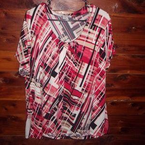 Plus Size Liz Claiborne 3x Top Blouse Shirt